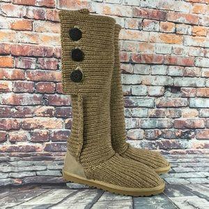 UGG Genuine Sheepskin Knit Boots Women's Size 8